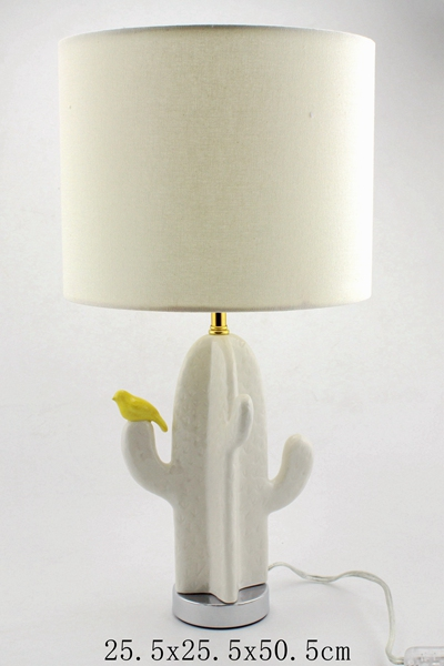 Ceramic Cactus Table Lamp