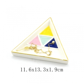 Ceramic Tinket Dish Triangle Shape