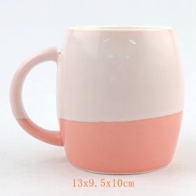 16 Oz Ceramic Barrel Mug